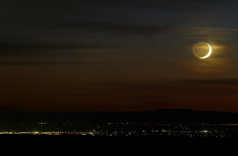 Moonset Over the Central Valley II