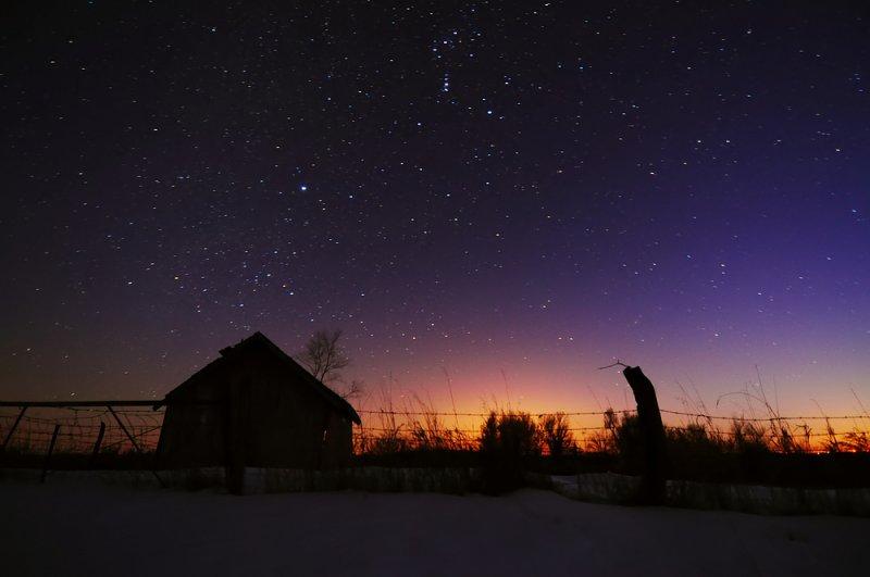 Starry Night with Twilight Glow