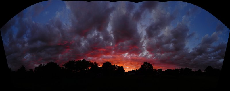 Uncropped Panoramic Test of Summer Sunset