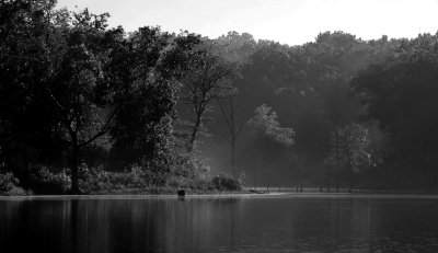 Mysterious Cove in Black and White