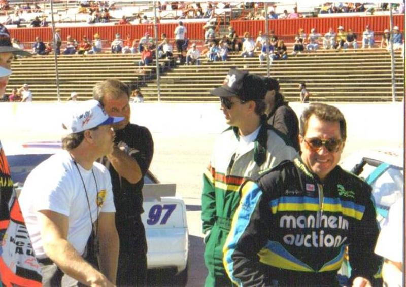 Nicky Formosa, Andy Kirby, and Harry Gant at the Fairgrounds Speedway Nashville