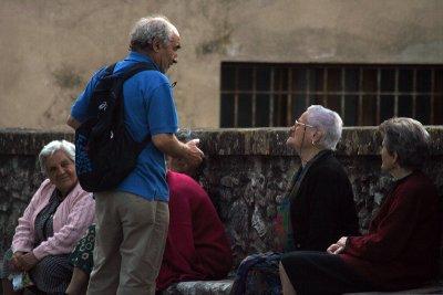 Explaining something to avid listener