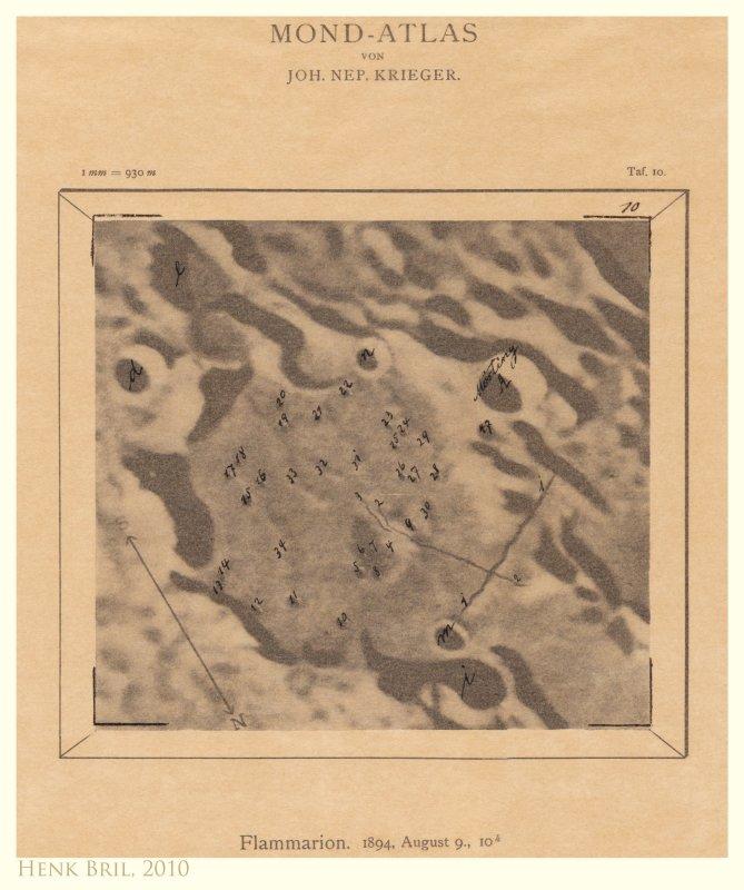 Tafel 10 - Flammarion (sunrise) (with overlay)