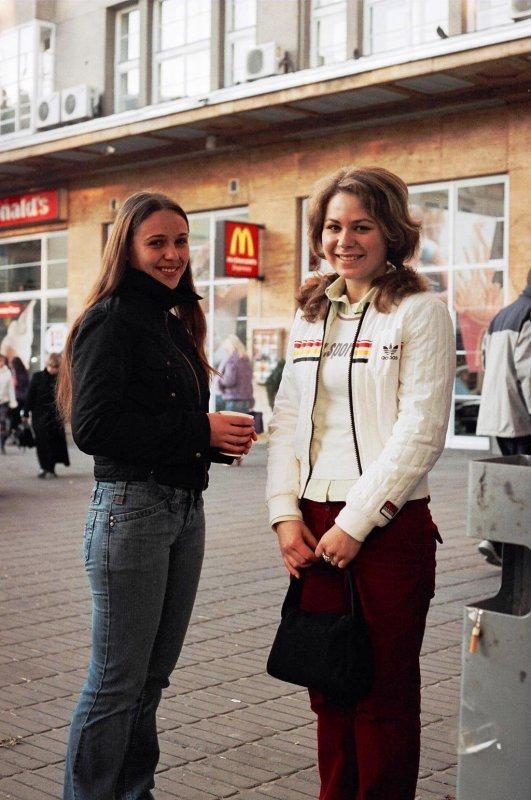 Gals at the local McDonalds