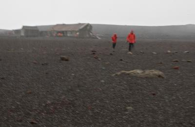 Snow Storm at Deception Island - Whaler's Bay