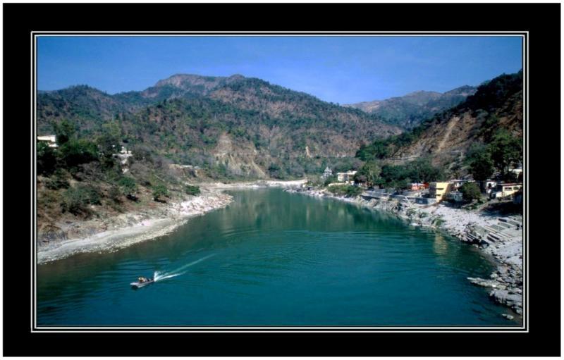 river Ganga and Himalaya.