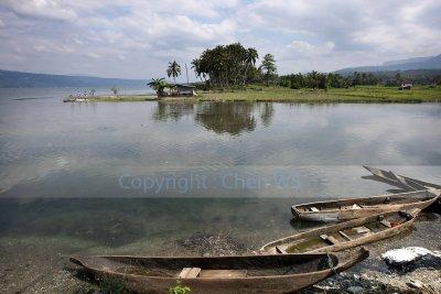 Fishing boats, Lake Singkarak