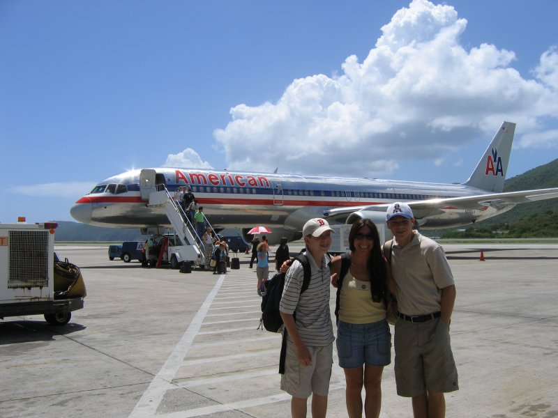 Arriving at St Thomas Airport
