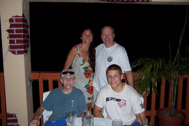 Family Shot at the Blue Moon Cafe at Secret Harbour