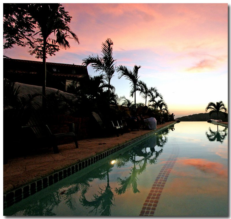 Sunset At The Lap Pool