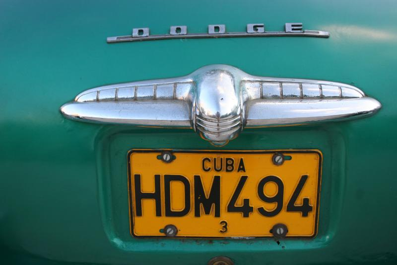 Cuban number plate