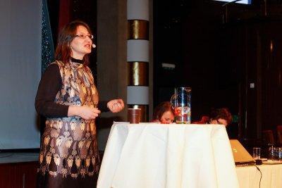 Lena Jensen holder foredrag