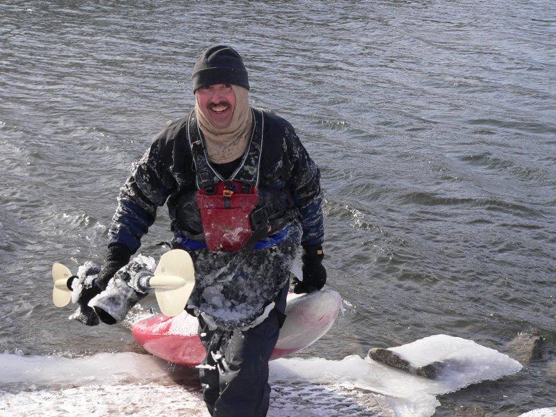 Icy kayaker