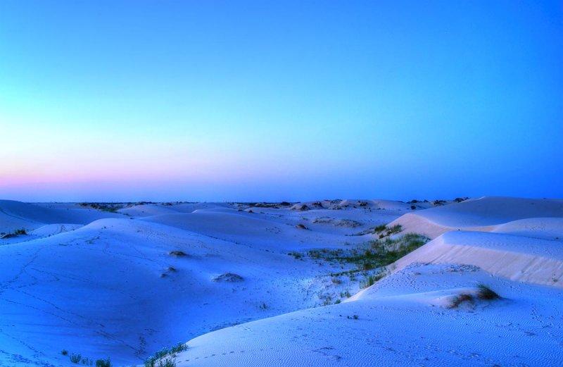blue hour after sunset