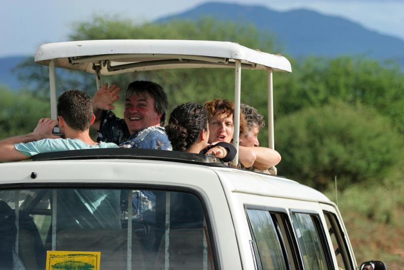 Premier safari dans la réserve de Tsavo Ouest