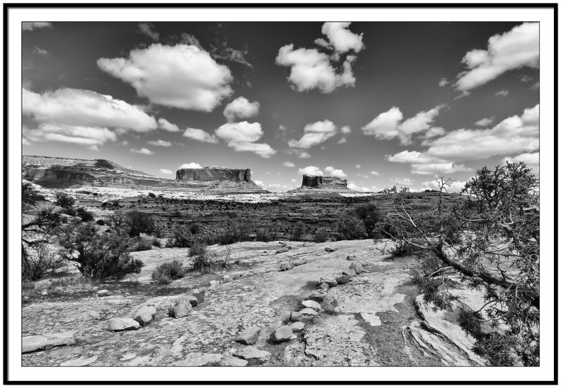 Monitor and Merrimac buttes_mono