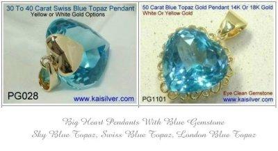 Blue Heart Pendant, Exploring Blue Topaz Gems For Your Big Heart Pendant