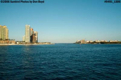 South Beach, Government Cut and Fisher Island landscape stock photo #9491