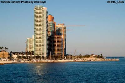 High-rise condominiums at the southern tip of Miami Beach (South Beach) landscape stock photo #9495