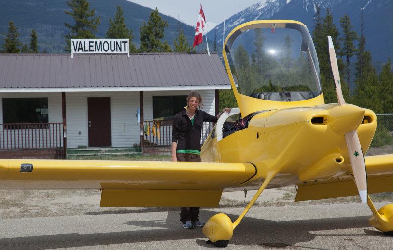 Photographer/Copilot Steph Abegg Awaits Departure Into The Rockies <br>(Valemount_J_051412_021-1.jpg)