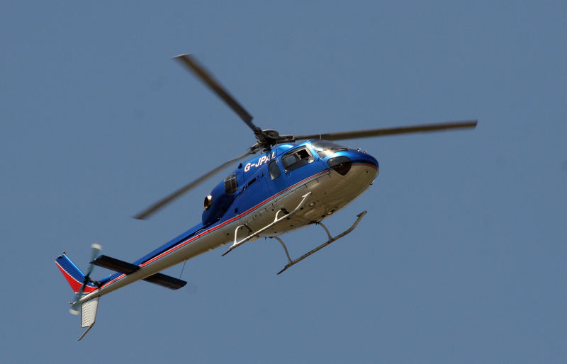 TV helicopter