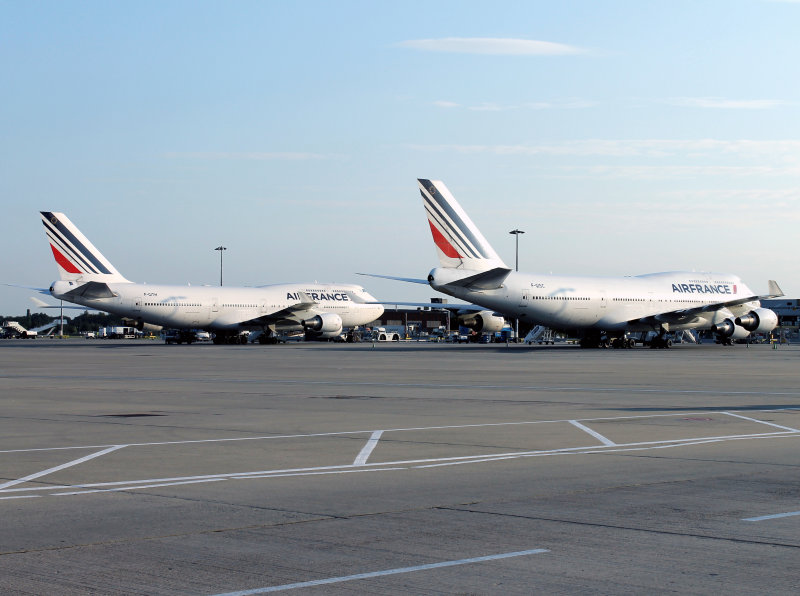 Air France 747s at Gatwick !!