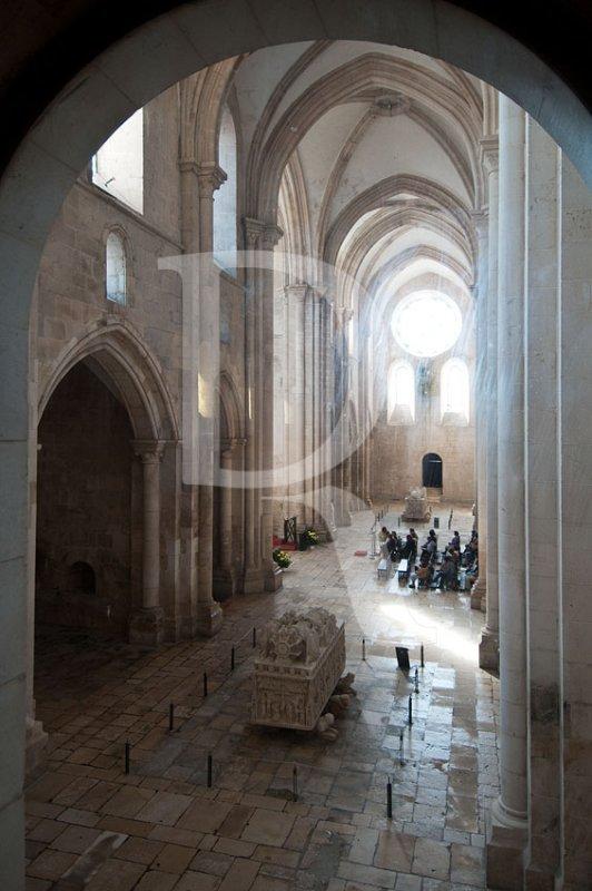 O Transepto da Igreja do Mosteiro de Alcobaça