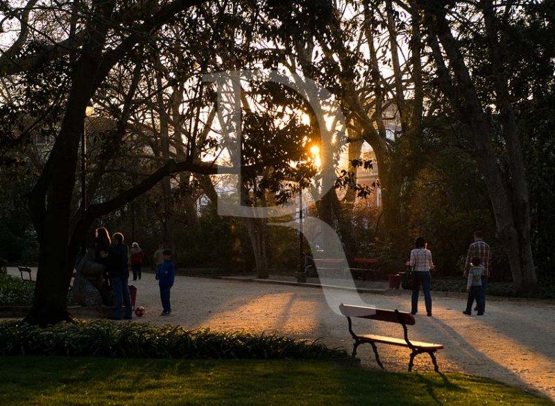 O Parque D. Carlos em 19 de março de 2011