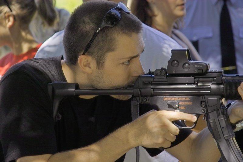 Zak takes aim.
