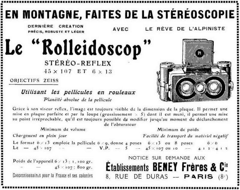 La 3D en 1928 : le Rolleidoscop !