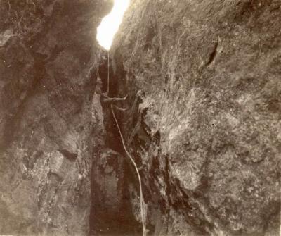 30 Juillet 1933 - Descente en rappel de la Grande Cheminée à lOssau