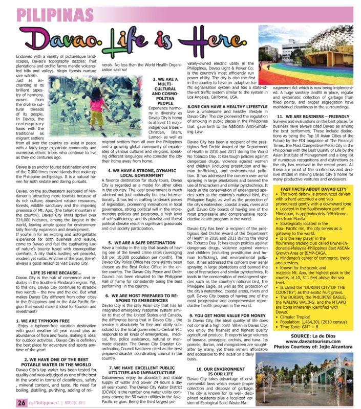 Davao in Hey Philippines magazine