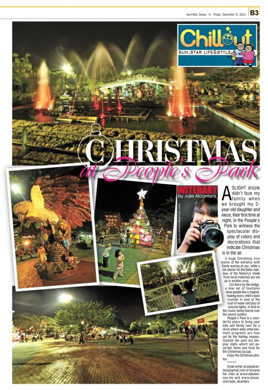 Christmas at Peoples Park