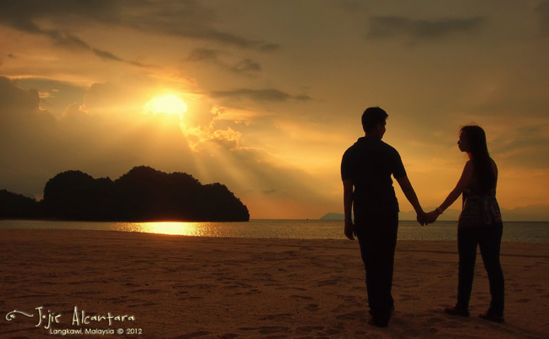 Sunset in Tanjung Rhu
