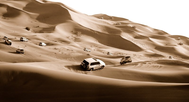 Desert safari in Dubai.