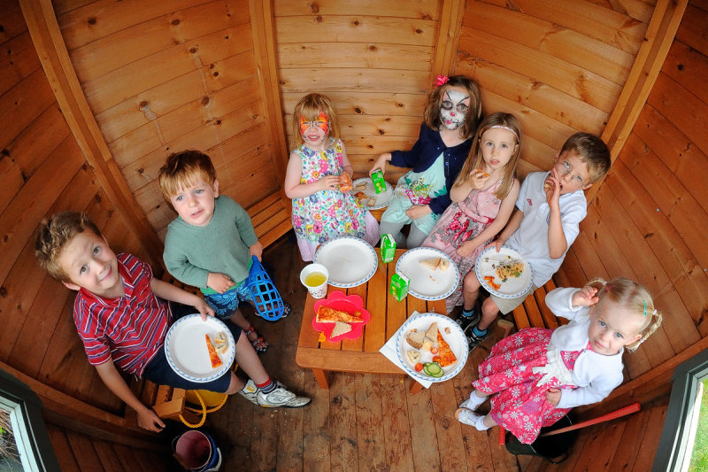Picnic in the shed