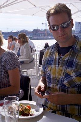 Ut og spise i Oslo, først med min far og deretter med kolleger