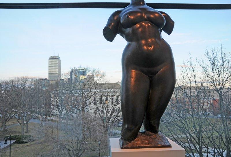 Bronze Woman by Gaston LaChaise & Boston Skyline