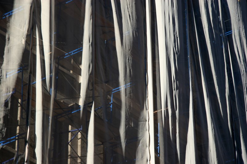 Curtains at a Construction Site