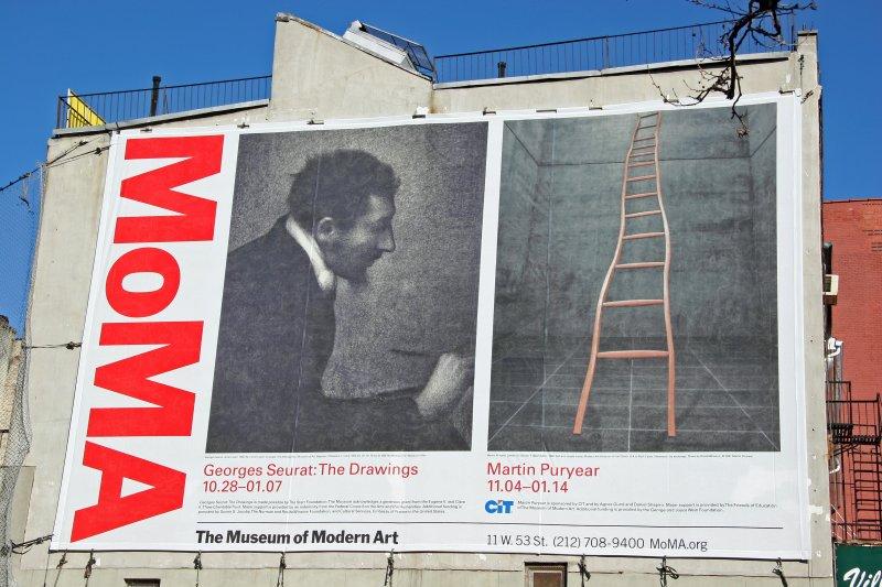 MoMa Seurat/Puryear Billboard