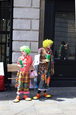 Serious clowns