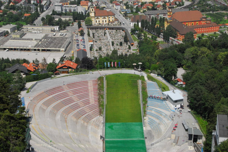 A skijumpers view