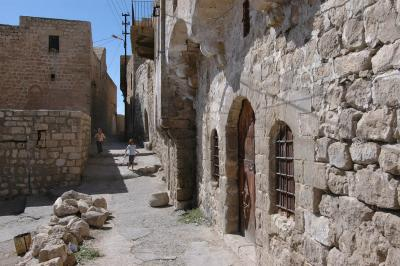 Photograph of medieval buildings in Mardin, Syria, from Dick Osseman's collection