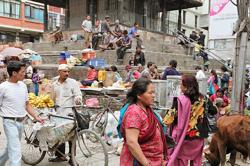 busy Kathmandu