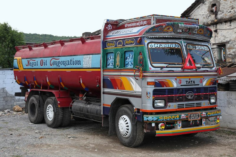 very colourful truck in Nepal