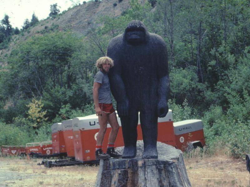 Bigfoot Statue In Willow Creek 1977