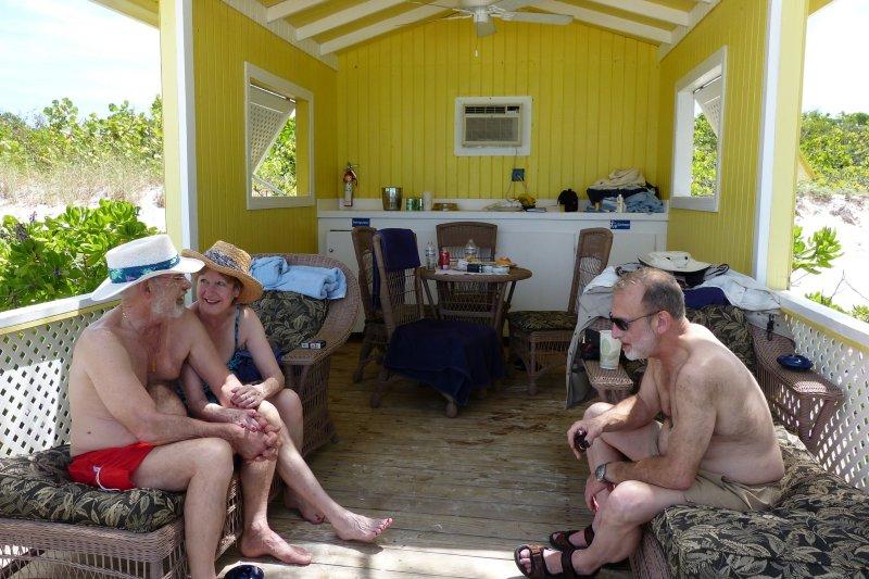 Hanging around the cabana