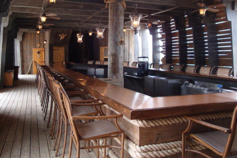 Inside the Emma Louise ship bar