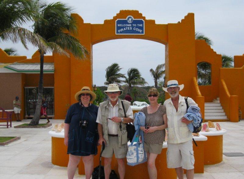 Happy campers - Lynda, Jim, Linda & Bryan