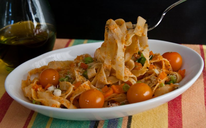 Pasta with Pesto di Peperoni
